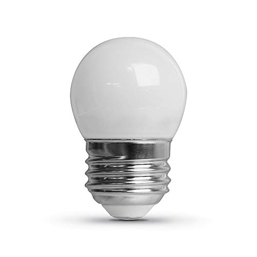 """Feit Electric BP71/2S/W/LED/6 0.6W 7.5W Equivalent Dimmable 30 Lumen E26 Base Frost LED S11 Specialty Light Bulb, 2.2""""H x 1.4""""D, 2700K (Soft White), 6 Piece"""