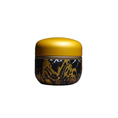 Tee Aufbewahrungsbox, MM456 Runde Chinesischer Stil Tea Caddy, Kaffeedose Aus Weißblech Als Metall-, Vorratsdose, Teedose Rund& Tabakdose Geeignet - 7.7 * 8.7 Cm