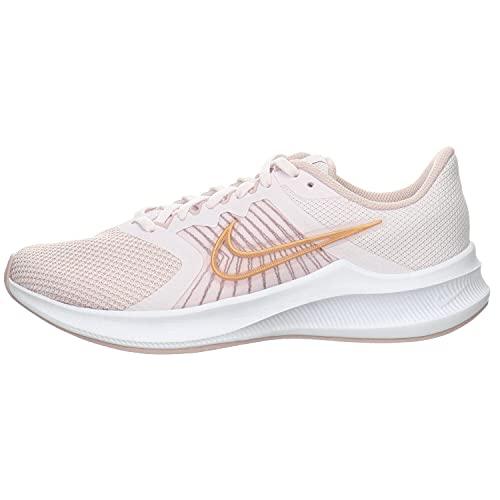 Nike Wmns Downshifter 11, Zapatillas para Correr Mujer, Light Violet Champagne White Metallic Red Bronze, 37.5 EU
