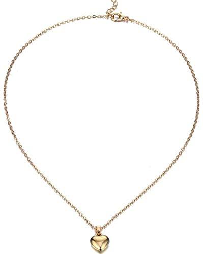 NC110 Joyería Brillante corazón Colgante Collar clavícula Collar para Mujer niña romántico Gargantilla joyería tamaño 45 + 5 cm YUAHAOJIGE8