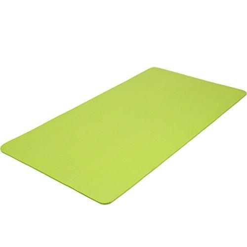 TecTake Tappetino Yoga Fitness Tappeto Aerobica Ginnastica Materassino - Disponibile in Diversi Colori e Misure - (Verde, 180x60x1.5cm)