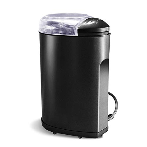 NAFE Electric Spice and Coffee Grinder with Stainless Steel Blades, 3 Oz / 85 G, Black,Easy to Clean,220V 200W B