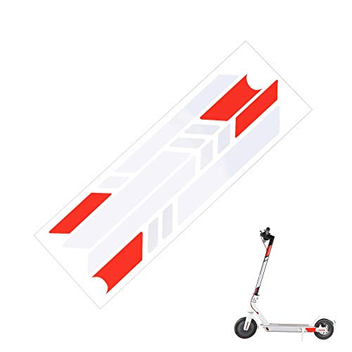 TOMALL Sctooer Reflective Sticker Waterproof Reflective Side Sticker Fluorescent Decal Red White for Xiaomi Mijia M365 Electric Scooter