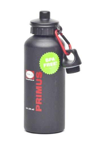 Primus Trinkflasche Edelstahl, Schwarz, 0.6 Liter