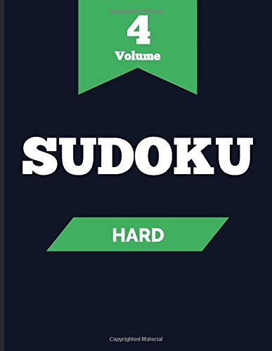 Sudoku Hard Volume 4: Activity book large print