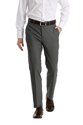 Calvin Klein Men's Slim Fit Dress Pant, Medium Grey, 30W x 30L