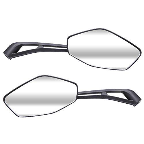 Anladia 2X [8mm/10mm] E-geprueft Universal Acryl ABS Kunststoff Motorrad Rueckspiegel Spiegel Fit Sport Choppers Cruiser schwarz Ersatz