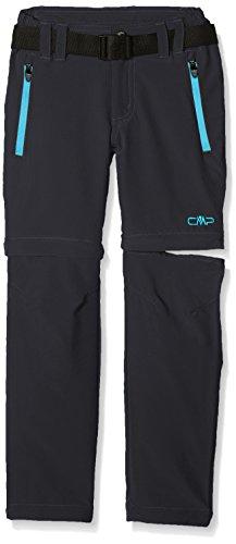CMPA5|#CMP CMP Mädchen Zip Off Hose, grau (Antracite/Ocean), 110.0