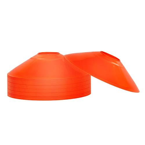 REEHUT Fussball Hütchen Markierungshütchen Agilität Markierungsteller Set Kunststoffhalter - Markierungskegel für Ballspiel, Radsport, Kinder, Sportler Dome Mini Trainingskegel