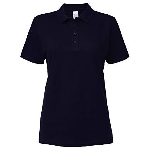 Gildan Softstyle Damen Kurzarm Doppel Pique Polo Shirt (2XL) (Marineblau)