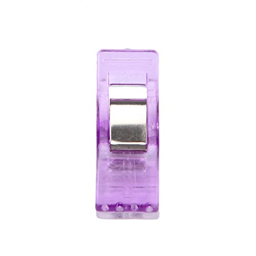 Sewing Clips ,Rucan Sewing Clips Replace Straight Sewing Pins Binding Clips for Quilting (pack of 50) (purple)