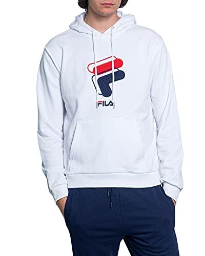 FILA Men Amjad Hoody Sweatshirt à Capuche, Bright White, XL Homme