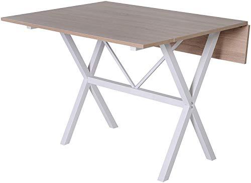 Marco de metal pie ajustable, base de metal en forma de cruz, la mesa plegable,Wood color