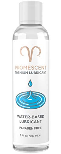 Promescent Premium Water Based Lube for Sex, Lubricants for Women, Men & Couples, Toy/Vibrator Safe, Condom Compatible, Paraben Free, Non-Sticky, Long-Lasting (8 oz)