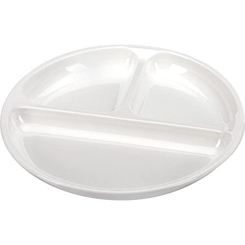 Westmark Plato de menú para microondas, 3 áreas separadas, diámetro 25 cm, Plástico, Color blanco, 22402270