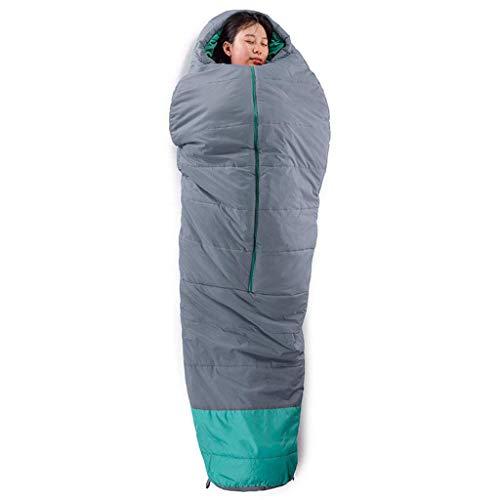 CATRP Printemps Et Automne Sac De Couchage Portable Ouverture Et Fermeture Chaud Imperméable Maman Coton (Color : Gray)