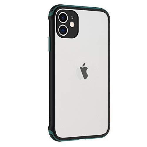 Rdyi6ba8 Funda Compatible con iPhone 11 6.1 Pulgadas, Ligera Delgado Transparente PC Rigida Carcasa Silicona TPU Bumper Resistente Impactos Caso para iPhone 11, Verde