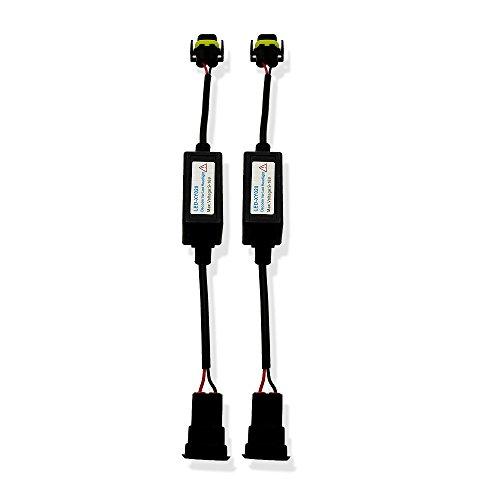 Heinmo Décodeur de voiture sans erreur H7 CanBus LED H1 pour phare antibrouillard DRL H8 H4 LED sans scintillement Avertissement H3 H11 (H8 H9 H11)