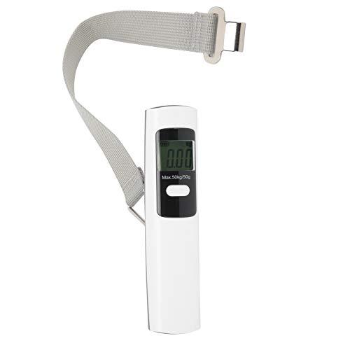 T-Day Báscula Digital, báscula de Bolsillo, báscula de Bolsillo con Pantalla LCD Dispositivo de pesaje de báscula de Equipaje portátil sin batería