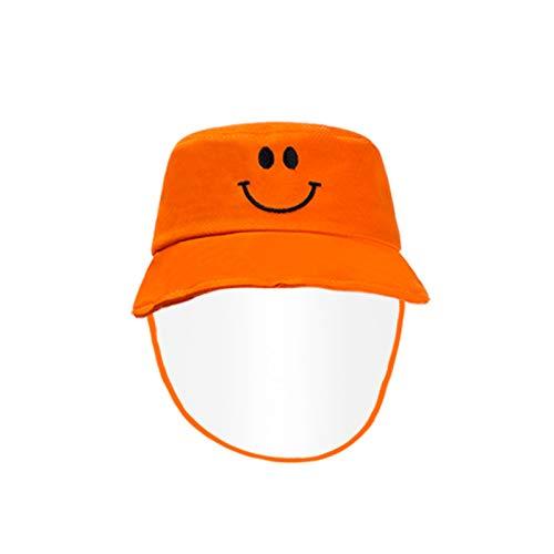 wopiaol Sombrero de Pescador Sombrero Anti-Gotas para niños protección de Cara Sonriente Sombrero de Sol de Verano Sombrero de algodón para bebé
