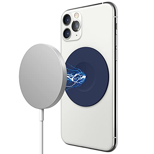 elago Adhesivo Magnético de Guía Compatible con Apple Cargador MagSafe, Compatible con iPhone 11, Pro, Pro MAX, XS, XR, XS MAX, X, 8, Plus, Compatible con Serie 12 de iPhone con Fundas (Jean Indigo)