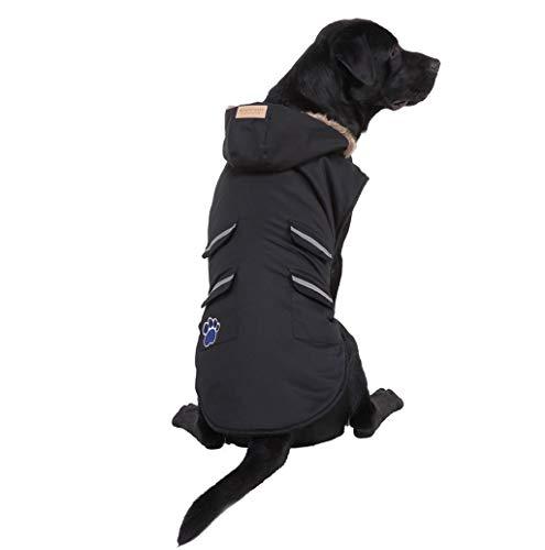 Hundemantel Hundejacke für Hunde, Winter Warm Fleece Hundemantel Hundepullover Gepolstert Weste Hunde Mantel-Kleid mit Kapuze für Mittlere und Große Hunde TWBB
