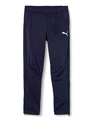Puma - Liga training pants - Pantalon de survêtement - Mixte Enfant - Bleu (Peacoat-puma white) - FR: 8 ans (Taille Fabricant : 128)