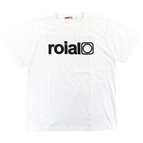 [ロイアル] メンズ Tシャツ 半袖 スタンダード バックプリント ロゴ サーフブランド コットン IMPOSTER R002MST01 (WHTBLK, L)