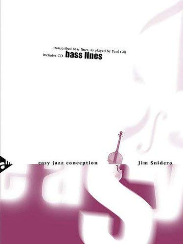 Snidero, Jim: Easy Jazz Conception Bass Lines (Noten +CD)
