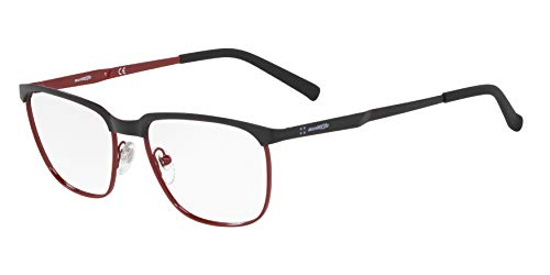 Arnette 0AN6122 Monturas de gafas, Matte Black/Red, 54 para Hombre