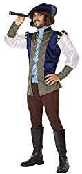 Image: Men's Medieval Explorer Pied Piper Carnival Fancy Dress Costume Outfit M-XL | by Fancy Me