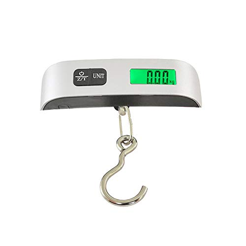 ZHEBEI Luggage scale electronic suitcase scale portable travel bag weighing fish hook hanging scale