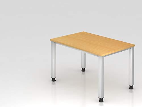Regulable en altura escritorio Q tamaño: 68 - 76 cm H x 120 cm Ancho x 80 cm T, características: sin cables, color (tablero): madera de haya