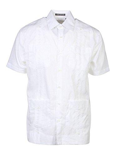 Giancarlo Camisa de vestir de manga corta ancha y liviana