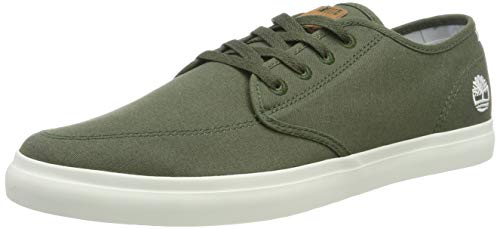 Timberland Union Wharf Derby Sneaker, Sneakers Basse Uomo, Verde (Dark Green Canvas), 40 EU