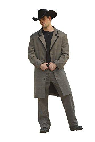 STARS & STRIPES Old Style Gehrock Abraham Vintage Oldstyle Westernkleidung Westernbekleidung (X-Large) Grau