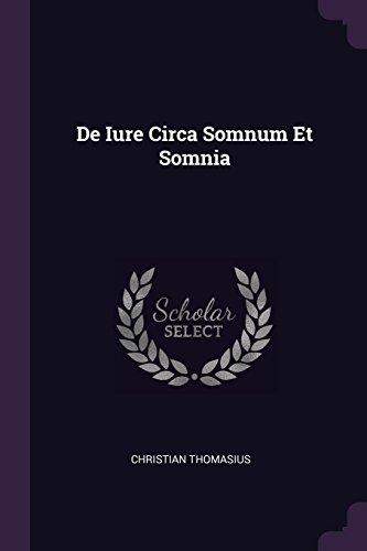 DE IURE CIRCA SOMNUM ET SOMNIA