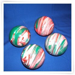 BuyBocceBalls Premium Quality EPCO 4 Ball 107mm Tournament Bocce Set - Marbled Red/White/Gr...