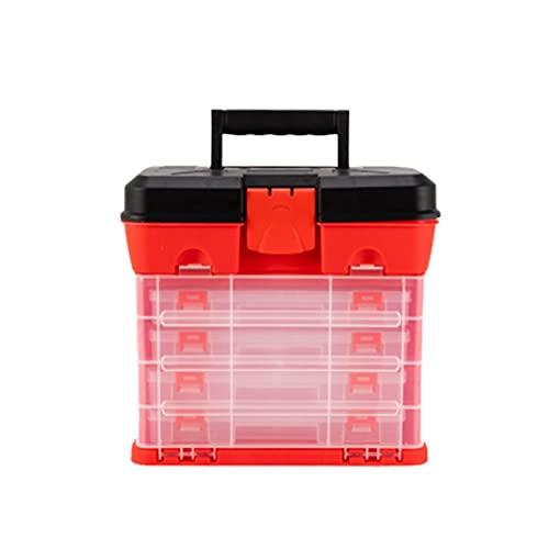 Caja de herramientas de transporte 4 capas cajón caja de herramientas de plástico caja de pesca grande piezas de tornillo caja de almacenamiento señuelos accesorios accesorios organizadores mango port