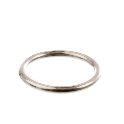 Marinox Edelstahlring | geschweißt und poliert | V4A, Ausführung:Ø 50 mm x 8 mm