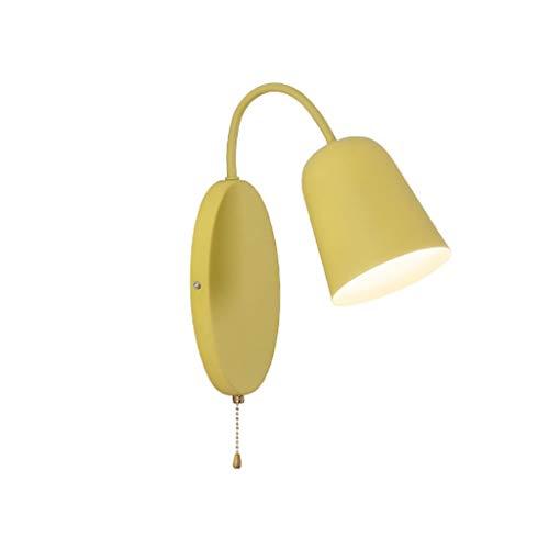 Wandlamp met trekschakelaar LED plafondlamp smeedijzeren minimalistische decoratie Macaron slaapkamer woonkamer naast de bed lamp