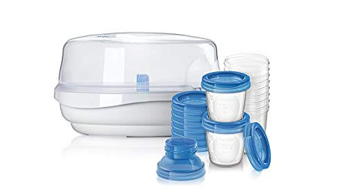 Esterilizador + kit copos p/armazenamento de leite Philips - Avent