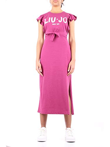 Liu Jo FA0416 J5703 Langes Kleid Damen Magenta L