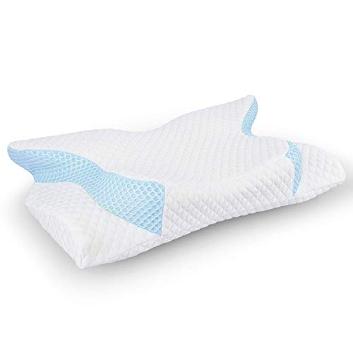 YSOU Memory Foam Pillow Orthopedic Pillow, Contour Pillow for Neck Pain, Cervical Support Pillow for Sleeping, Ergonomic Pillow for Sides, Back and Stomach Sleepers