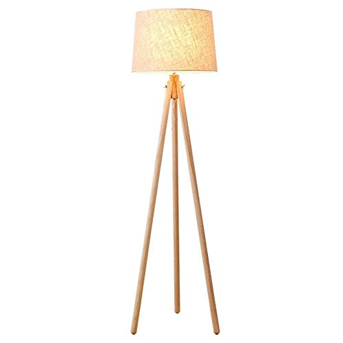 CHENJIA Trípode LED Lámpara de pie - Mediados de siglo modernos Permanente de luz for salas de estar contemporánea - Lámpara Encuesta alto con patas de madera for dormitorio, oficina