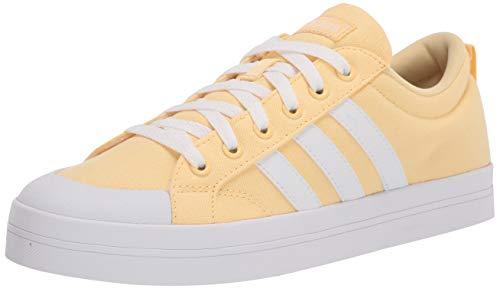 adidas Women's Bravada Skate Shoe, Orange Tint/White/Grey, 9.5