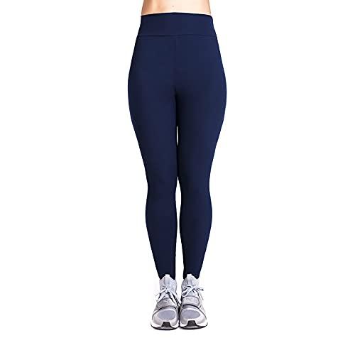 Pantalones de Adelgazantes Mujer Leggins Reductores Adelgazantes Leggings Pantalones de Yoga Tie-Dye Anticeluliticos Cintura Alta Mallas Fitness Push Up para Deporte Mallas Pantalones,Navy blue,XXL