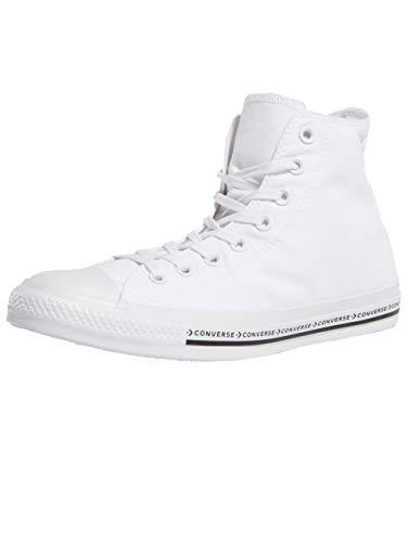 Converse Sneaker All Star Hi Canvas, Sneakers Unisex Adulto, Bianco (White/White/Black 102), 39/40 EU