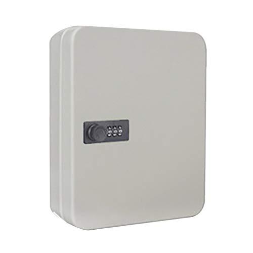 ZJL220 - Caja de seguridad con llave con cerradura de combinación montada en la pared, organizador con llave para password con cerradura para oficina, casa o coche