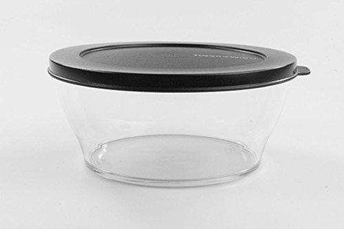 Tupperware Clear Collection 990 ml zwart transparante doos Preludio Bowl 35808